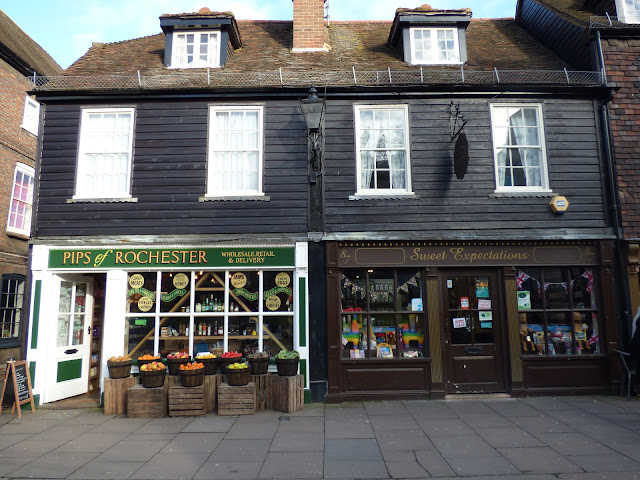 Shops on Rochester High Street, Kent