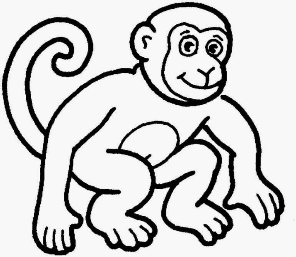 Baby boy monkey coloring pages
