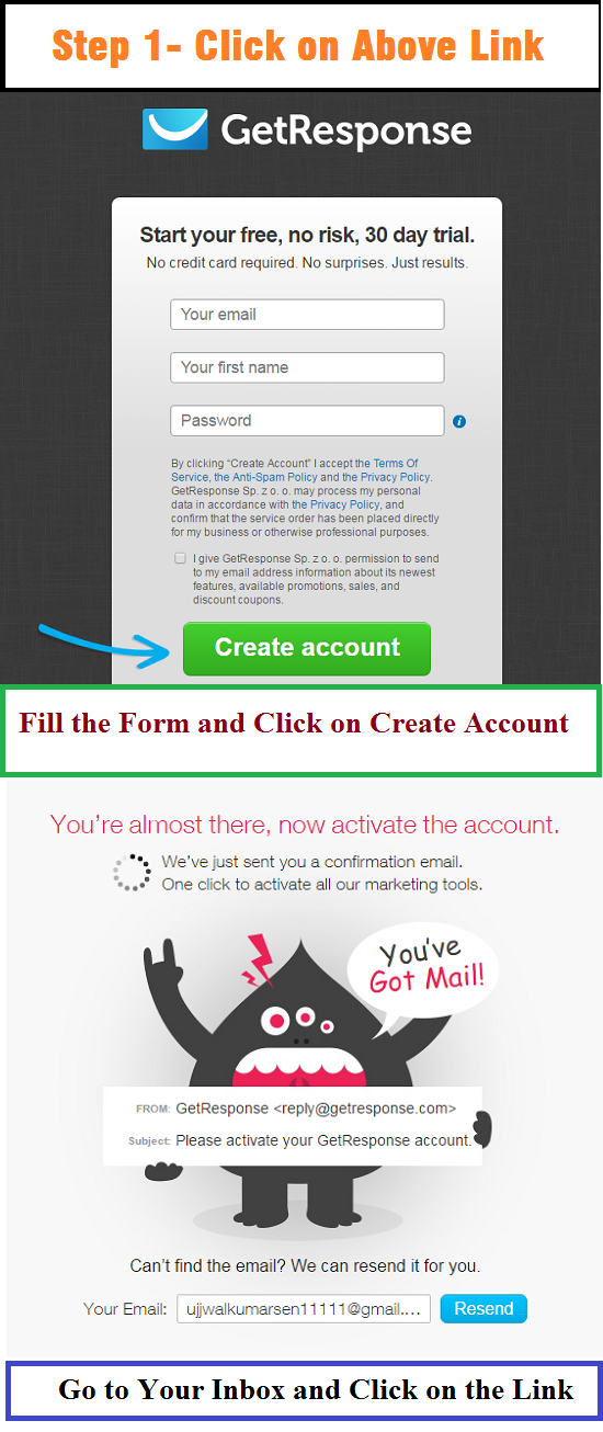 GetResponse, Email Marketing, Sign Up Getresponse