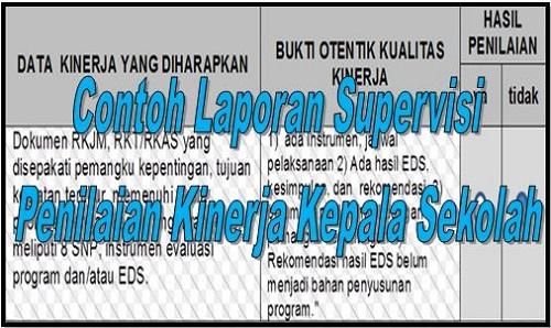 Download Contoh Laporan Supervisi Dan Penilaian Kinerja Kepala Sekolah
