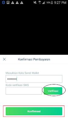 cara verifikasi password saat penukaran pulsa aplikasi mfun vault
