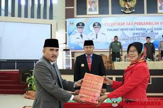 Adlisman S.Sos, M.Si, Resmi Dilantik Sebagai Penjabat Sekretaris Daerah Kabupaten Dharmasraya