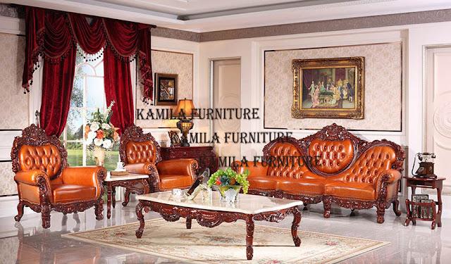 Kamila Furniture: LUXURY CLASSIC ITALIAN FURNITURE LIVING ROOM
