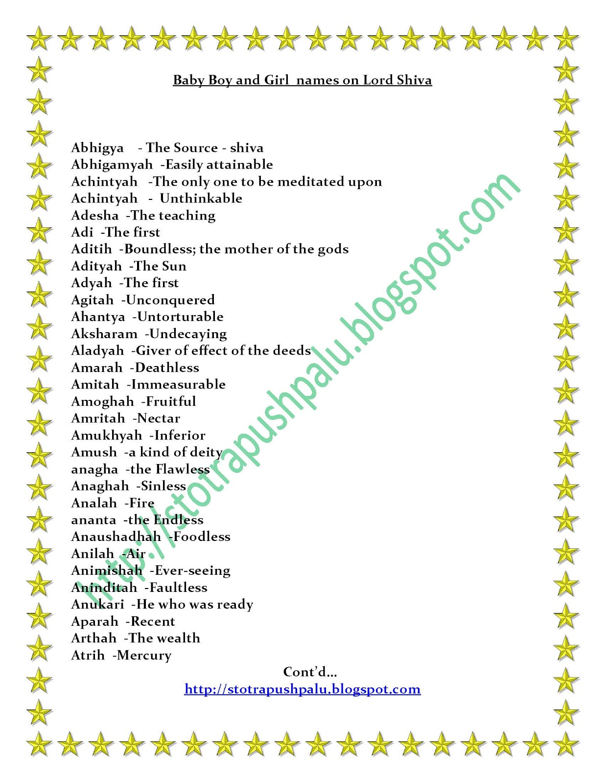 Girl Baby Names Starting With Po In Tamil : names, starting, tamil, Indian, Names, Starting, Letter, Pengetahuan