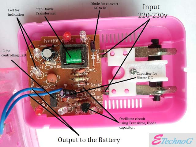 Working of Universal mobile battery charger.How universal mobile battery charger works? What inside a Universal mobile battery charger?