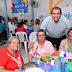 López Peña compartió un almuerzo con jubilados de la Jurisdicción Norte