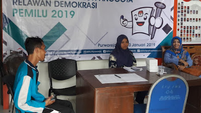 KPUD Purworejo Rekrut Relasi Pemilu 2019, 6 Peserta Dari Kecamatan Pituruh Ikut Seleksi