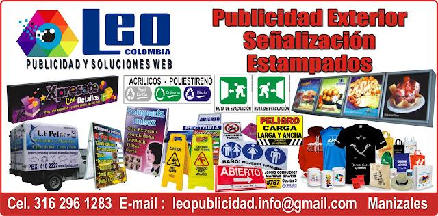 PUBLICIDAD ESTAMPADOS SEÑALIZACIÓN EN MANIZALES