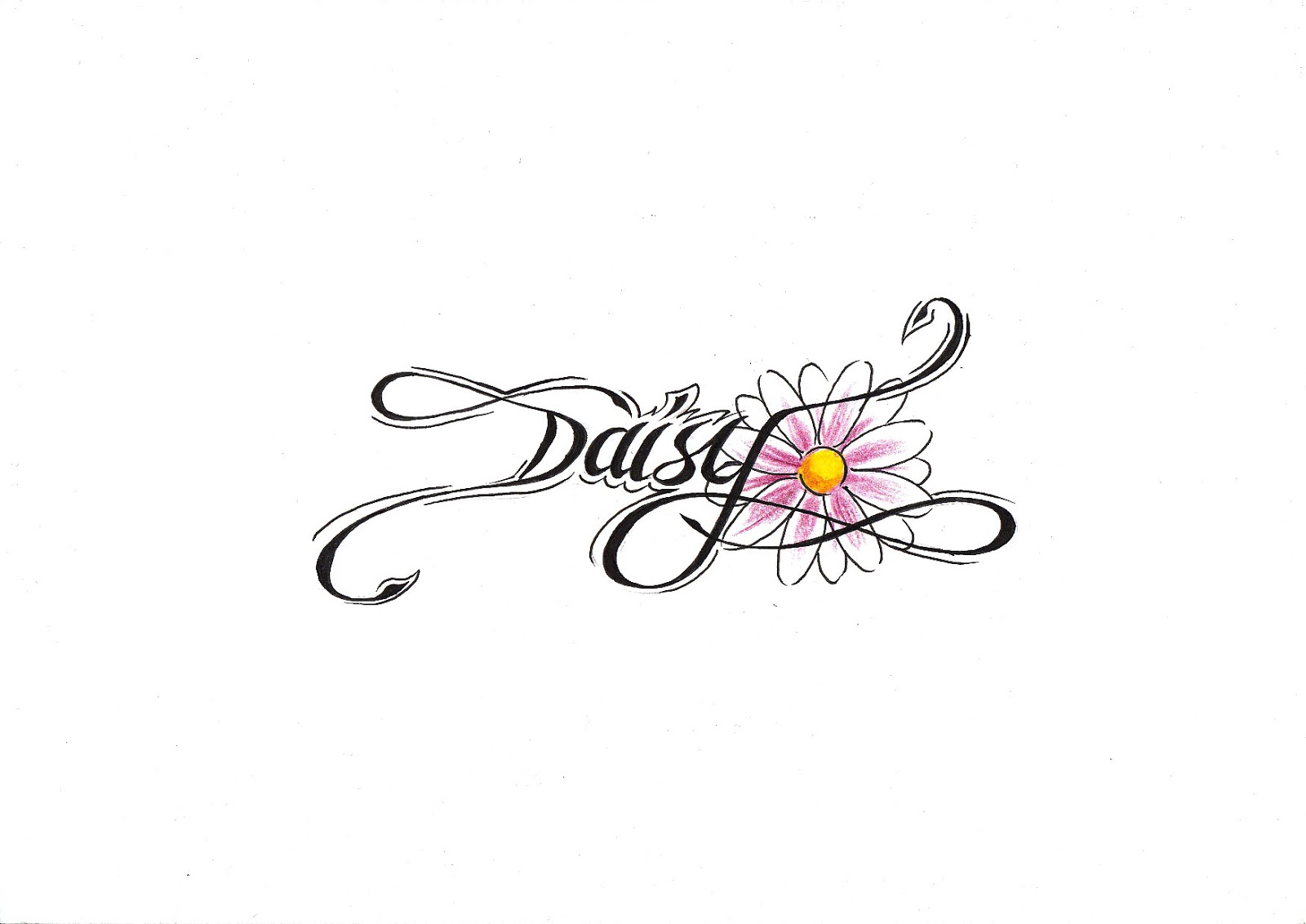 Heart Daisy Tattoo: Tattooz Designs: Flower Tattoo Designs