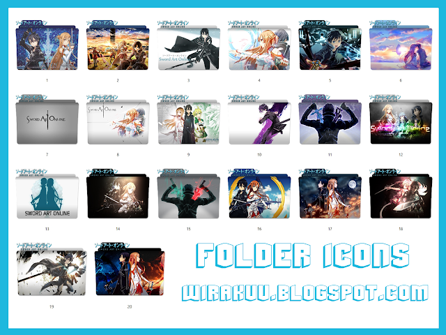 20 Folder Icons Anime Sword Art Online (Windows 7, 8, 10)