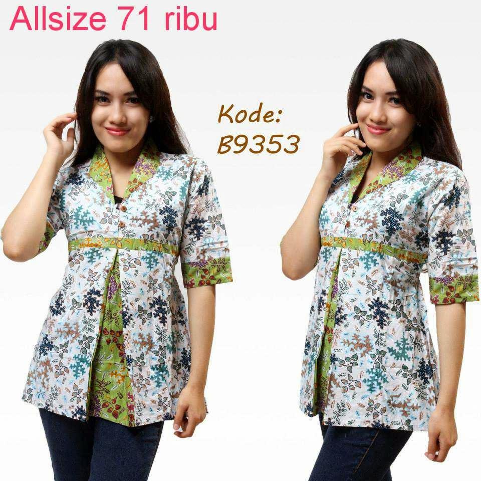 Model Baju Batik Terbaru: Contoh Model Baju Batik Kerja