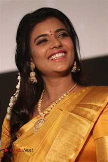 Actress Aishwarya Rajesh Pictures in Saree at Dharmadurai Audio Launch  0015