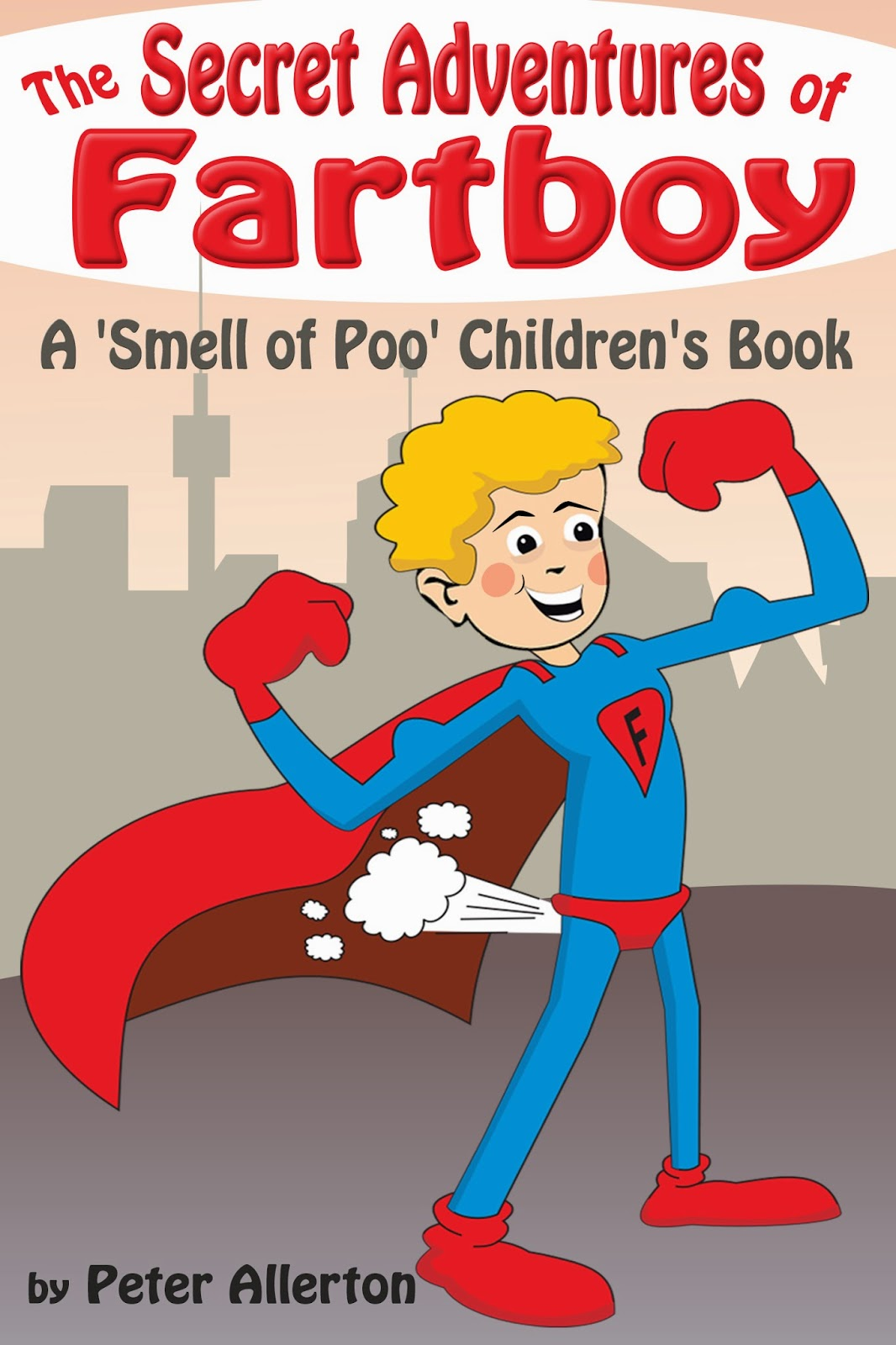 funny superhero children's story book
