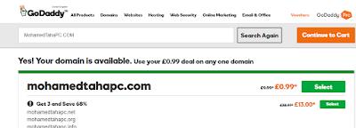 طريقة شراء دومين من موقع جودادي بسعر 0.99 دولار