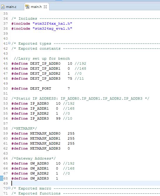 LwIP Echo Client on STM32F4 G-EVAL | STM32F4 Notes