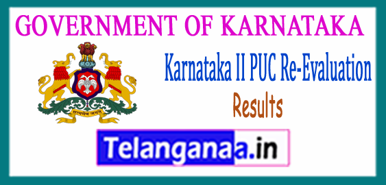 Karnataka II PUC Re-Evaluation Results 2017