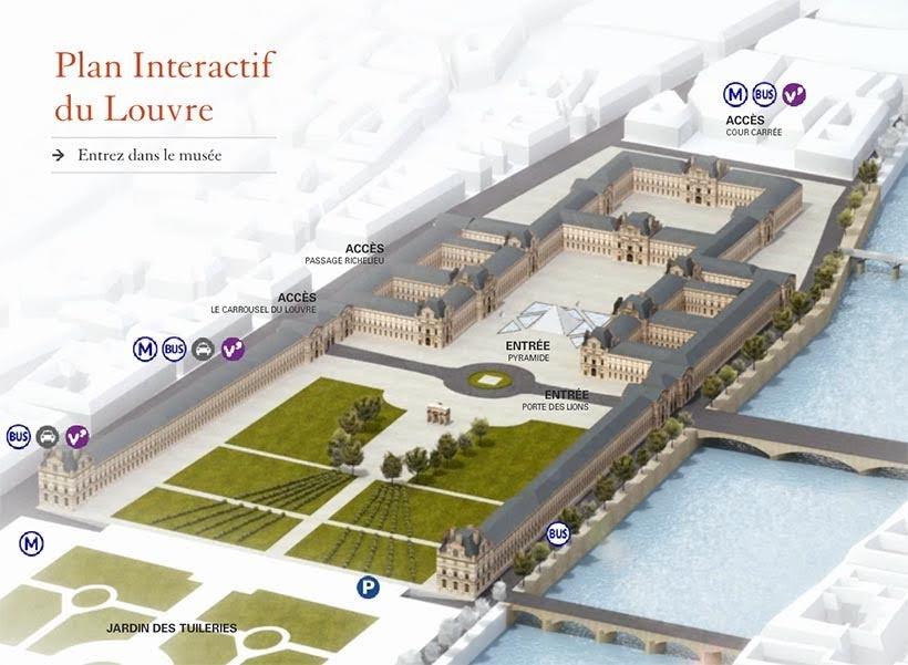 Mapa do Louvre - Louvre sem fila: como visitar o museu em Paris