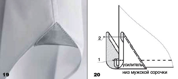 Обработка рукава мужской сорочки