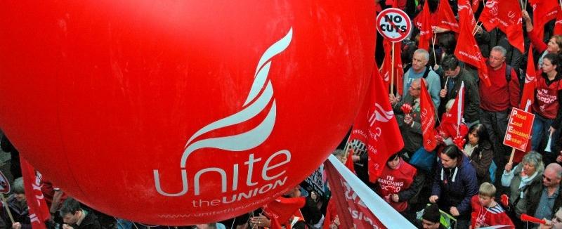 Manifestação do sindicato Unite
