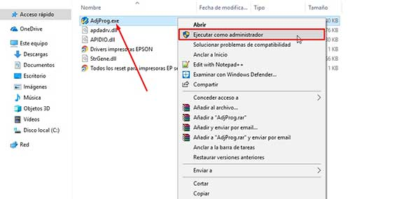 reset Epson EP-603A con Adjustment program