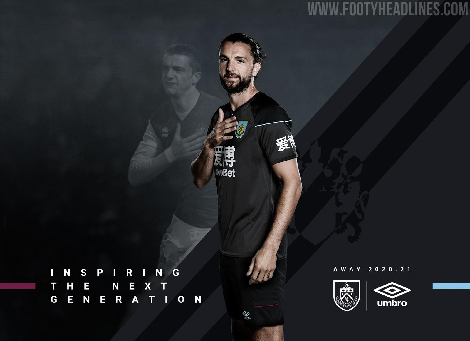 Burnley 20-21 Away Kit Revealed - Footy Headlines