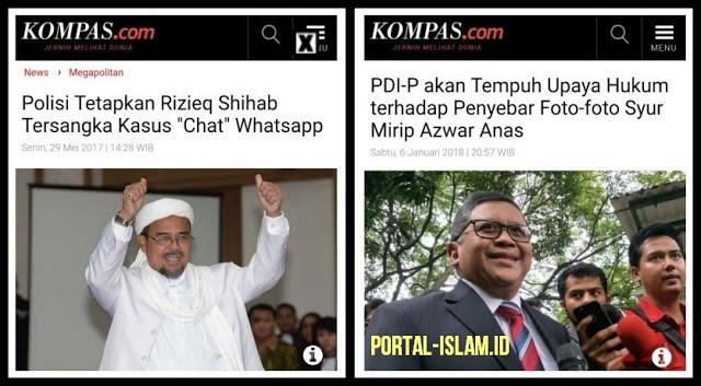 Kasus Chat - Habib Rizieq yang Dijadikan TERSANGKA, Kasus Azwar Anas - Penyebar yang DIKEJAR