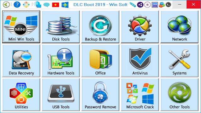 Download DLC Boot 2019-Tạo usb boot cứu hộ máy tính 1 click