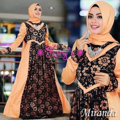Model Baju Muslim Gamis Syar'i Bahan Brokat Terbaru