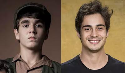 Carlos é Xande Valois na primeira fase e Danilo Mesquita na segunda – Fotos: Raquel Cunha e João Cotta/Globo