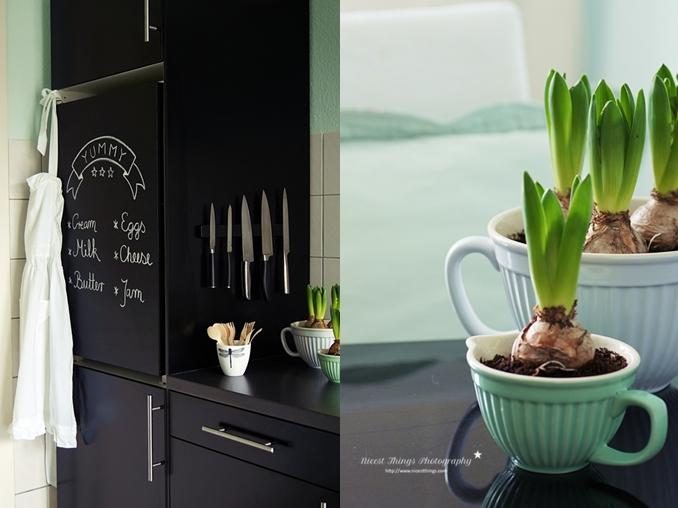 Tafelfarbe Kühlschrank Küche