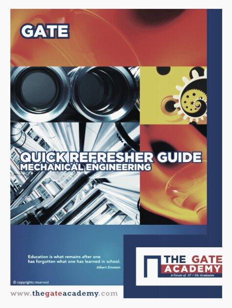 Download Quick Refresher Guide Mechanical Engineering [THE GATE ACADEMY] Pdf