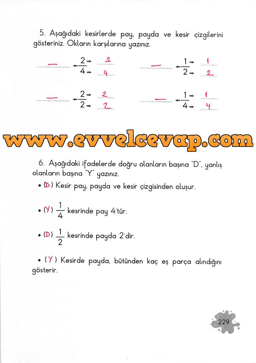 2. Sınıf Açılım Yayınları Matematik Ders Kitabı 229. Sayfa Cevapları
