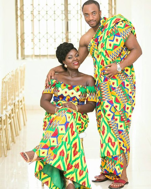 Fashion: Check Out Beautiful Ghana Traditional Marriage Fashion Pics