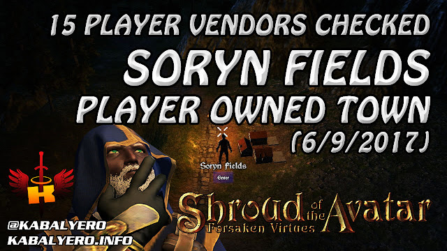 Soryn Fields, 15 Player Vendors Checked (6/9/2017)