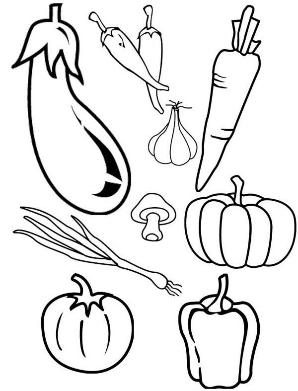 Fall fruit coloring pages ~ Los dibujos para colorear : Dibujos de Verduras para ...