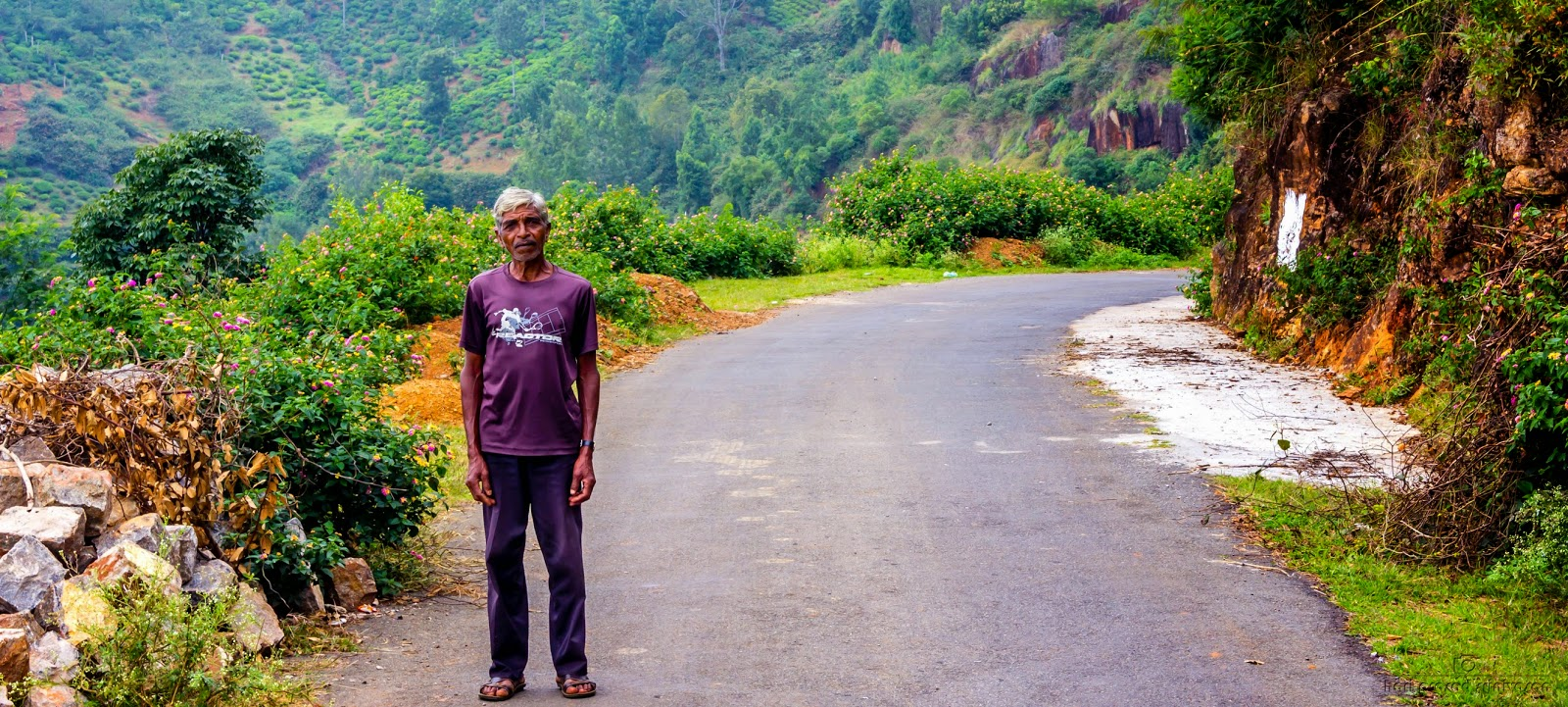 Street photography potrait of a stranger in Ooty