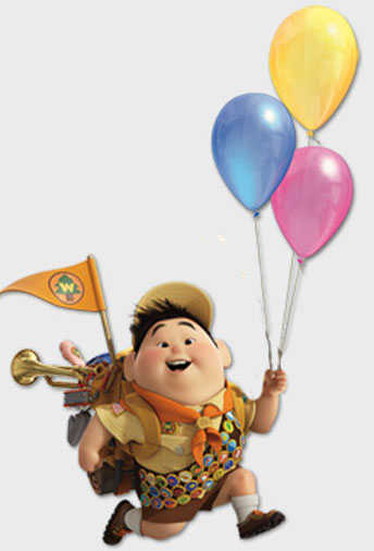Disney Characters Pixar Up Russell For Kids Wallpaper