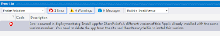 Error occurred in deployment step 'Install app for SharePoint'