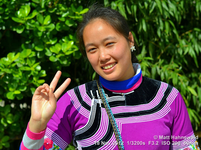 close up, people, street portrait, China, Yunnan, hill tribe, ethnic minority, traditional costume, Yuanyang, Miao people
