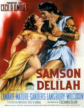 Poster Of Samson and Delilah 1949 Dual Audio 160MB BRRip HEVC Mobile Free Download Watch Online Worldfree4u