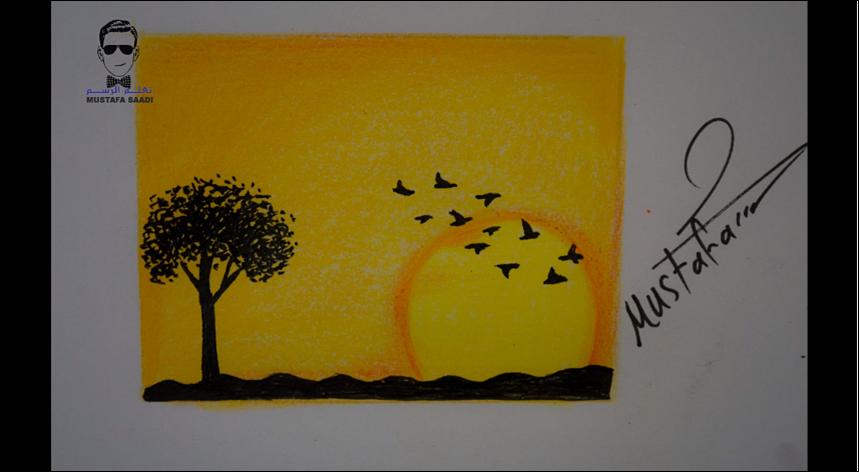 تعلم رسم منظر طبيعي مع الخطوات للمبتدئين تعلم الرسم