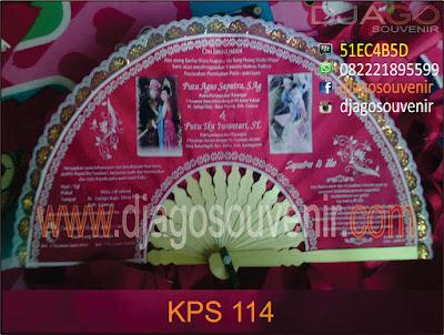 Kipas undangan pakai 2 foto color