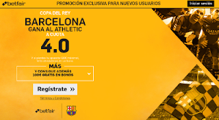 betfair supercuota 4 Barcelona gana al Athletic Copa 11-1