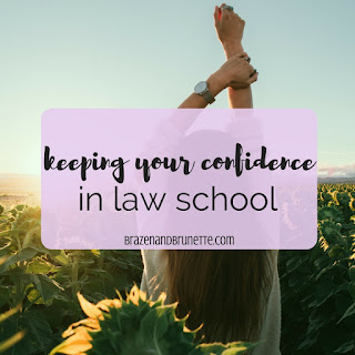 You might think the curve or the tests will be the hardest part about law school, but it's actually YOU. | brazenandbrunette.com