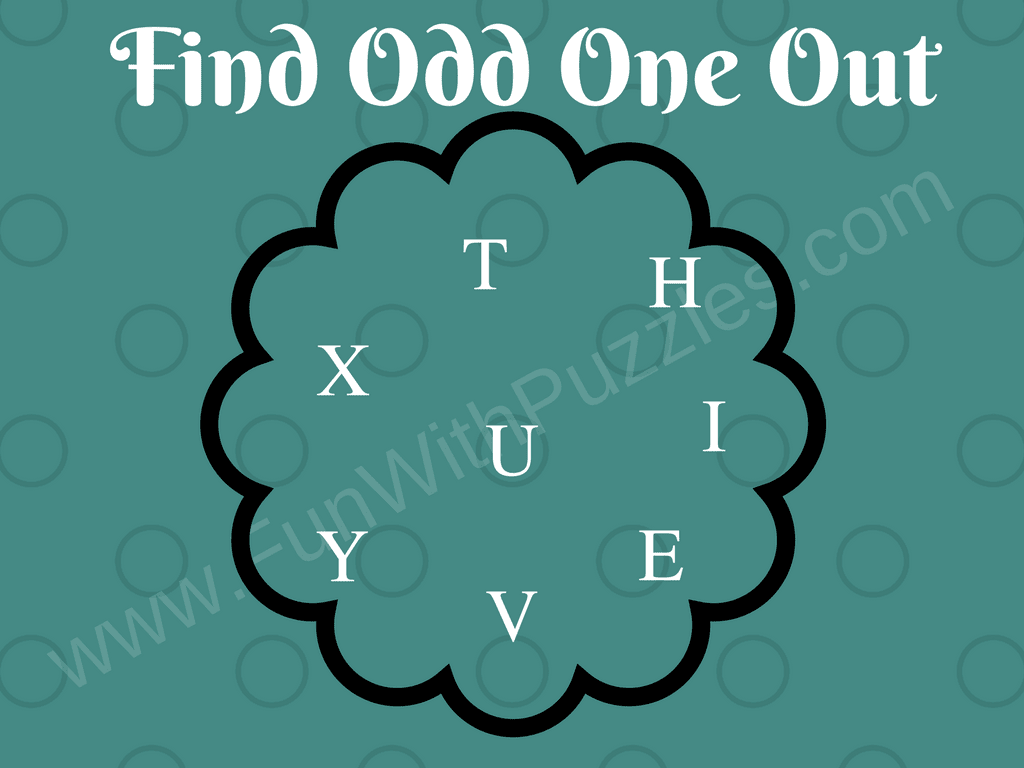 Odd One Out Fun Letters Quiz For Kids Fun With Puzzles