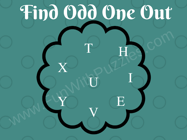 Letters Odd One Out Genius Puzzle