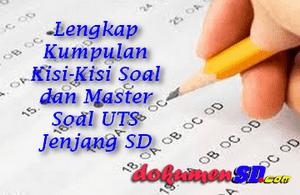 Lengkap Kumpulan Kisi-Kisi Soal dan Master Soal UTS Jenjang SD