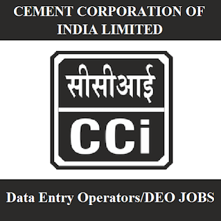 Cement Corporation of India Limited, CCI, Telangana, DEO, Data Entry Operator, Graduation, freejobalert, Sarkari Naukri, Latest Jobs, cci logo