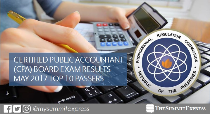 PRC RESULTS: Top 10 May 2017 CPA Board Exam Topnotchers