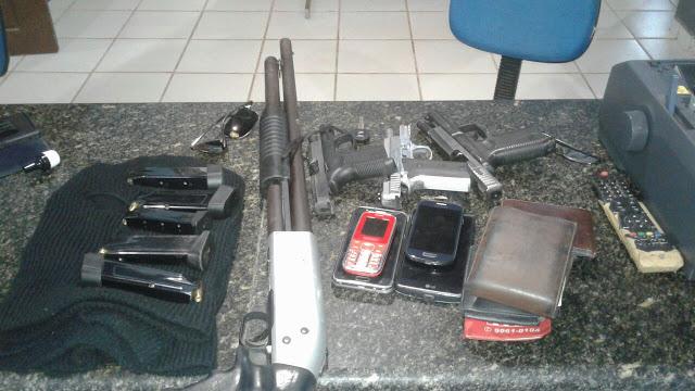 Polícia prende quatro homens fortemente armados em Paço do Lumiar